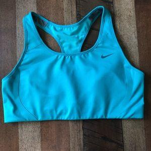 NWOT Nike Dri-fit Sports Bra, Turquoise, racerback